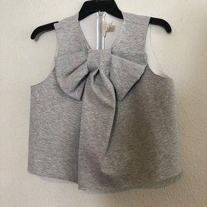 Cropped Bow sweatshirt top